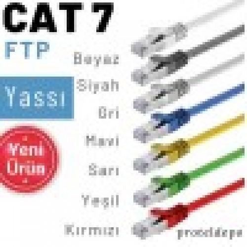 IRENIS CAT7 FTP Yassı  Ethernet (İnternet, Lan, Network) Kablosu 7.50 Metre