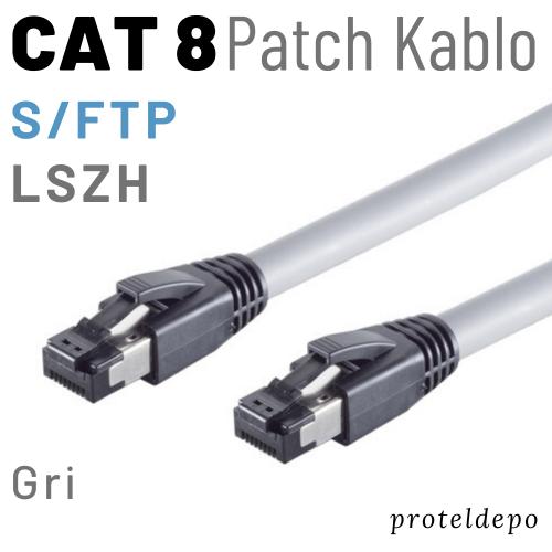 PACIFIC CAT8 S/FTP LSZH Ethernet Patch Kablo, 25cm