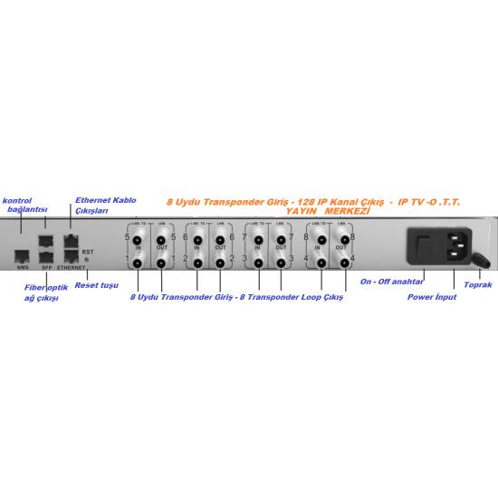 BLANKOM IGS-800 IPTV Yayın Merkezi, Uydu girişli