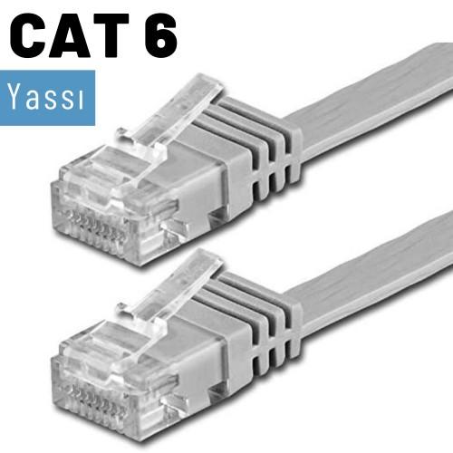 IRENIS CAT6 Yassı Ethernet Network Lan İnternet Kablosu 50 cm