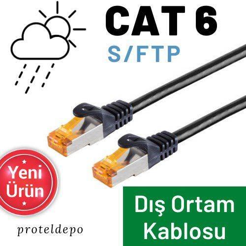 PACIFIC CAT6 Dış Ortam S/FTP, Açıkhava Ethernet Network Kablosu 50m