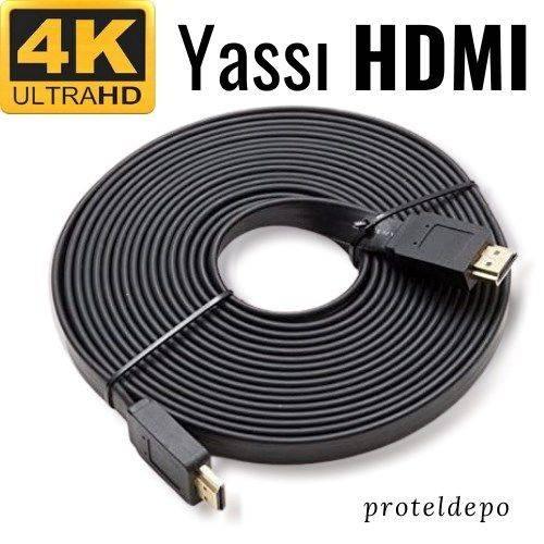 4K Yassı HDMI v1.4 Kablo,  5 Metre