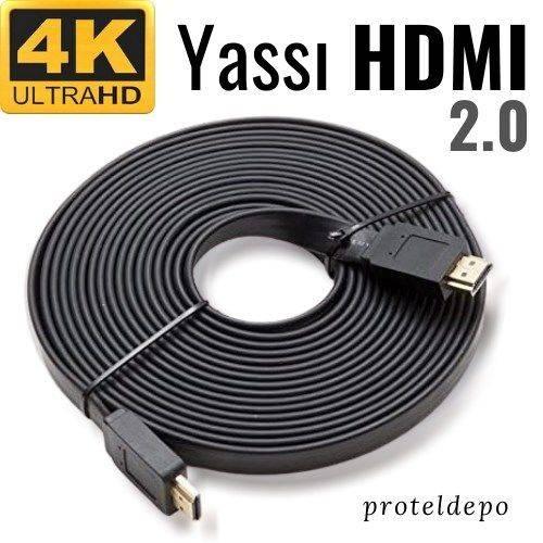 4K Yassı HDMI v2.0 Kablo, 50 cm