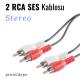 PACIFIC 2 RCA Ses (Audio) Kablosu 10 Metre
