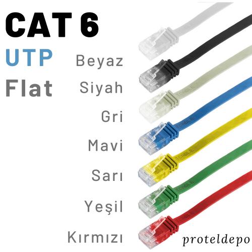 IRENIS Cat6 UTP Yassı Patch Kablo 5 Metre