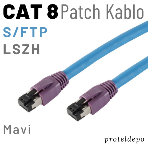 PACIFIC CAT8 S/FTP LSZH Ethernet Patch Kablo, 1m