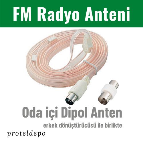IRENIS FM Radyo Oda İçi Anten erkek/dişi (Tuner, Müzik Sistemi İçin)