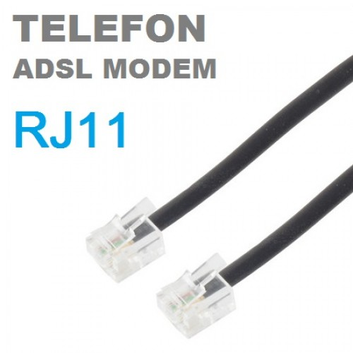 PACIFIC RJ11 ADSL Modem ve Telefon Hat Bağlantı Kablosu 3m